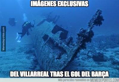 Los mejores memes del Villarreal-Barcelona: Copa del Rey barcelona hunde submarino amarillo
