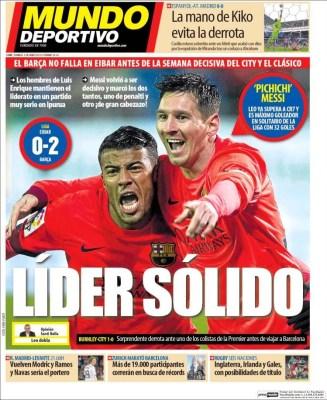 Porta Mundo Deportivo: líder sólido barcelona