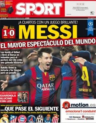 Portada Sport: Messi, el mayor espectáculo del Mundo