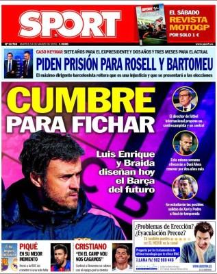 Portada Sport: cumbre para fichar