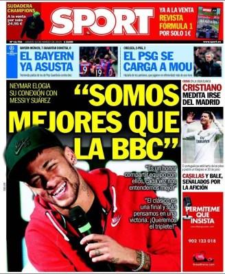 Portada Sport: Somos mejores que la BBC