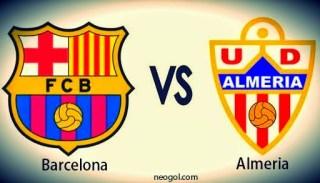 Alineación y la previa Barcelona-Almería. Jornada 30