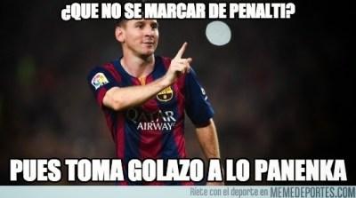 Los mejores memes del Barcelona-Getafe: Jornada 34 messi gol panenka