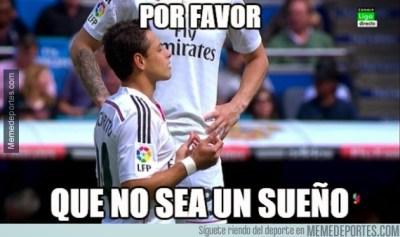 Los mejores memes del Real Madrid-Éibar: Jornada 31 chicharito gol