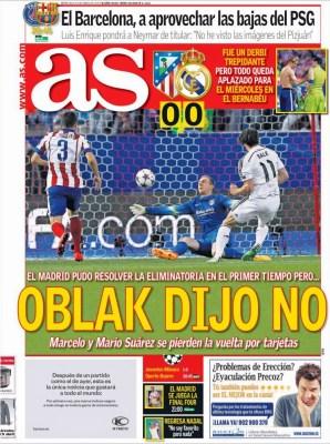 Portada AS: Oblak dijo no