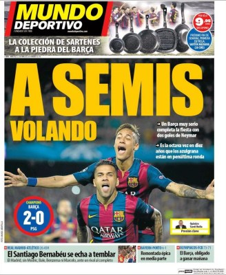 Portada Mundo Deportivo: a Semis volando barça psg