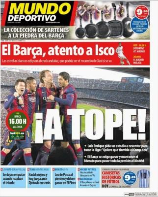 Portada Mundo Deportivo: A tope en el Camp Nou