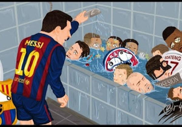 Los mejores memes del Barcelona-Bayern Munich: Semis Champions messi baño bayern