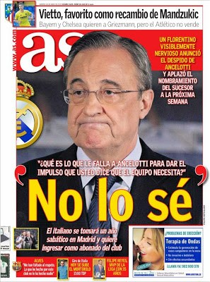 Portada AS: Ancelotti despedido