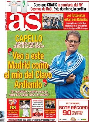 Portada AS: Fabio Capello