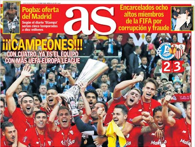 Portada AS: Campeones! sevilla campeon europa league dnipro