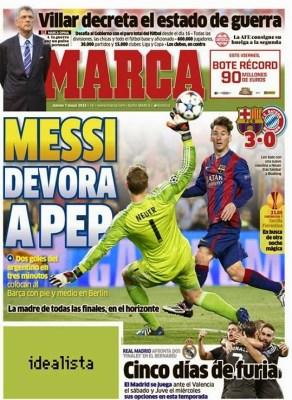 Portada Marca: Messi devora a Pep