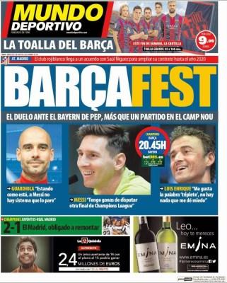 Portada Mundo Deportivo: Barçafest