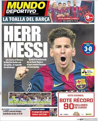 Portada Mundo Deportivo: Herr Messi