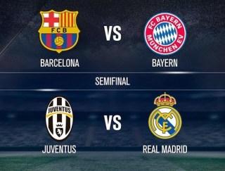 Semifinales Champions 2015: infografía real madrid juventus barcelona bayern munich