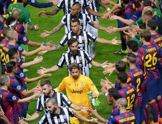 El festejo de la quinta Champions del Barça en imágenes pasillo juventus barcelona