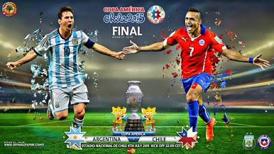Alineación y la previa Chile-Argentina. Final Copa América