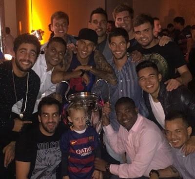 neymar instagram champions league 2015
