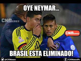 Los mejores memes del Brasil-Paraguay. Copa América  neymar james