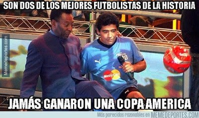 Los mejores memes de la Copa América Chile 2015 maradona pele