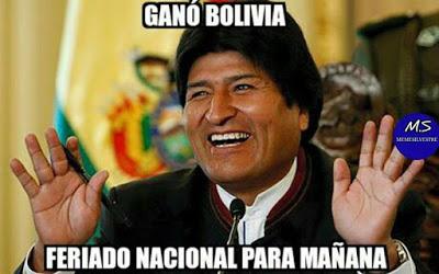 Ecuador-Bolivia. Copa América  memes evo morales