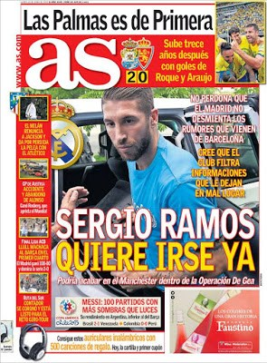 Portada AS: Ramos quiere irse
