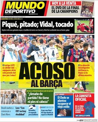 Portada Mundo Deportivo: acoso al Barça