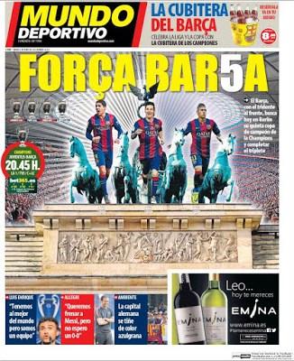 Portada Mundo Deportivo: Força Bar5a final liga campeones 2015