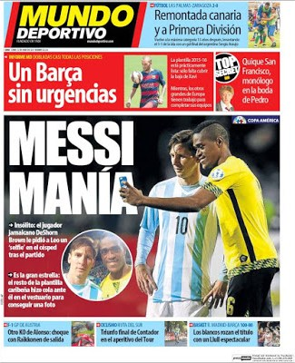Portada Mundo Deportivo: Messimanía
