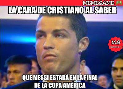 Los mejores memes del Chile-Argentina. Final Copa América 2015 ronaldo
