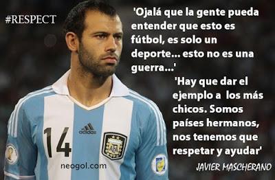 Los mejores memes del Chile-Argentina. Final Copa América mascherano respect esto no es la guerra