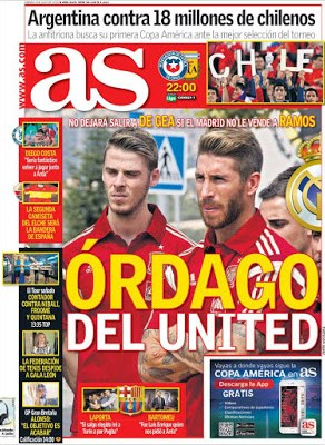 Portada AS: Órdago del United