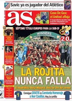 Portada As: España campeona del sub 19