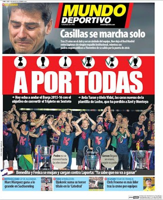 Portada Mundo Deportivo: A por el sextete