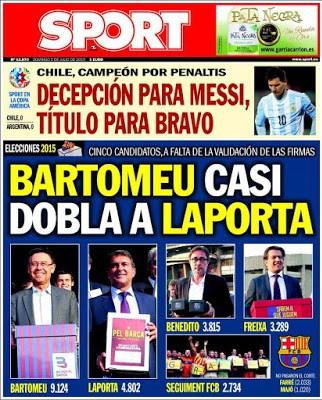 Portada Sport: Bartomeu-Laporta