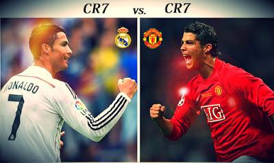 CR7 Manchester United vs Real Madrid