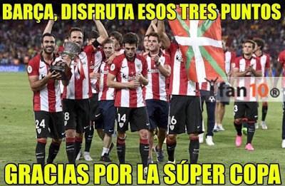 Los mejores memes del Athletic Bilbao-Barcelona: Jornada  athletic supercopa