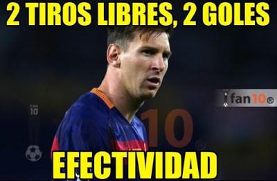 Los mejores memes del Barcelona-Sevilla: Supercopa 2015 messi tiro libre gol
