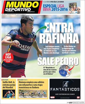 Portada Mundo Deportivo: entra Rafinha