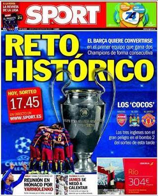 Portada Sport: Reto histórico