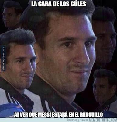Los mejores memes del Atlético Madrid-Barcelona: Jornada 3 messi suplente