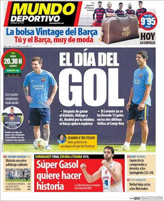 Portada Mundo Deportivo: Barça-Levante