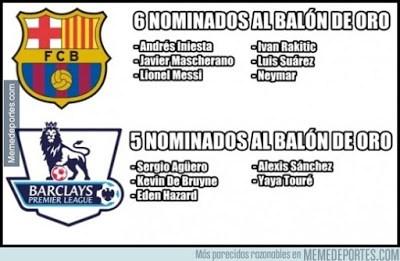 Los mejores memes de los 23 candidatos al Balón de Oro 2015 barcelona premier league