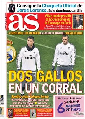 Portada AS: Cristiano vs. Bale