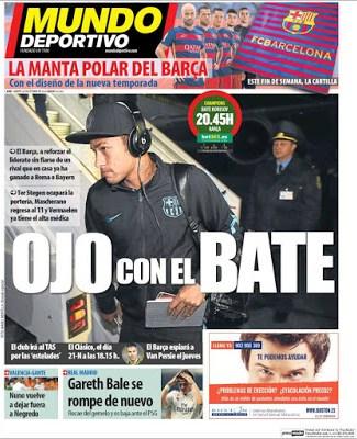 Portada Mundo Deportivo: Ojo con el BATE