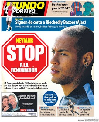 Portada Mundo Deportivo: stop Neymar