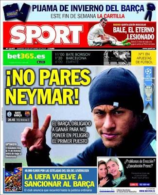 Portada Sport: No pares Neymar