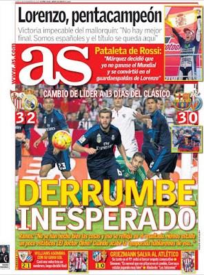 Portada As: derrumbe del Madrid