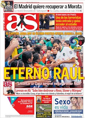 Portada AS: eterno Raúl