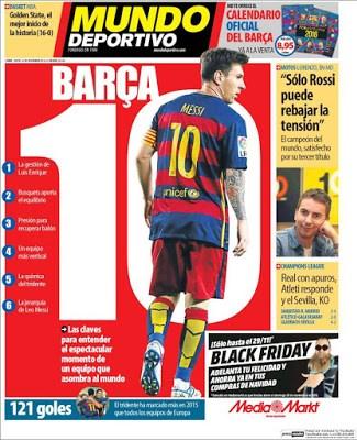 Portada Mundo Deportivo: un Barça 10